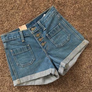 Levi's High waist Button Fly Shorts 25